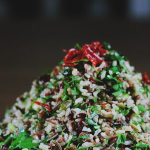 Brown Wild Rice with Vegetables & Cranberries image by Heftiba